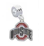 """Ohio State Buckeyes Charm with Connector """"Classic & Original Style"""" - Fits"""