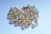 19.1cm Long 6 Row Glass Pearl Bracelet