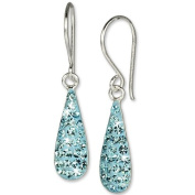 SilberDream Glitter Earring Drop zirconia crystals shiny turquoise, 925 Sterling Silver GSO208T