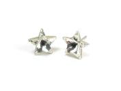Crystal Star Shape. Austrian Crystal Earrings, 10mm