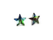 Vitrail Medium Star Shape. Crystal Element Stud Earrings, 10mm