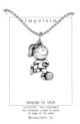Clayvision Soccer Girl Pendant Necklace