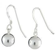 Sterling Silver 8mm Round Ball Earrings on French Wire