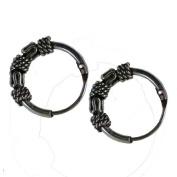 10mm Bali Hoop Earrings Sterling Silver