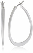 Kenneth Cole New York Silver-Tone Teardrop Hoop Earrings
