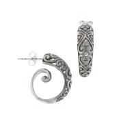 Spiral Hoop Earrings Filigree Sterling Silver