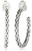 Zina Sterling Silver Braided Hoop Earrings