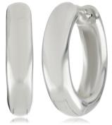 Zina Sterling Silver Snap Hoop Earrings