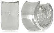Zina Sterling Silver Wide Concave Hoop Earrings