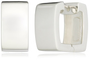 """Zina Sterling Silver """"Contemporary Collection"""" Square Snap Earrings"""