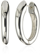 Zina Sterling Silver Contemporary Collection Long Drop Snap Hoop Ear