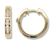 1/4 Carat Channel Set Diamond Earrings in 14k Yellow Gold