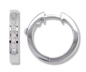 1/4 Carat Channel Set Diamond Earrings in 14k White Gold