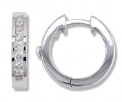 1/2 Carat Channel Set Diamond Earrings in White Gold