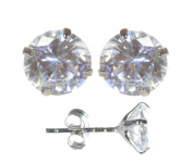 Classical 925 Sterling Silver Women Stud Earrings with Cubic Zirconia/CZ - 4mm*4mm