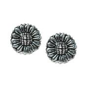 Stud Earrings Sterling Silver - Sunflowers