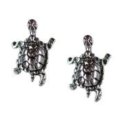 Stud Earrings Sterling Silver -Turtles