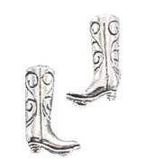 Sterling Silver Mini Cowboy Boot Earrings On Posts