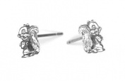 Sterling Silver Mini Bucktooth Squirrel Earrings On Posts