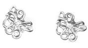 Sterling Silver Mini Octopus Earrings on Posts