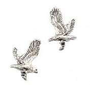 STERLING SILVER MINI FLYING EAGLE EARRINGS ON POSTS