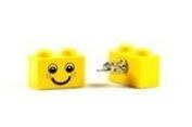 LEGO Yellow Happy Smiley Face Earrings Jewellery
