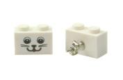 LEGO Kitty Cat Smiley Face Earrings Jewellery