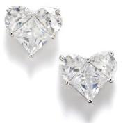 Bay Studio Cubic Zirconia Heart Stud Earrings