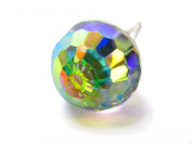 Aurore Boreale Faceted Ball. Austrian Crystal Earrings, 8mm
