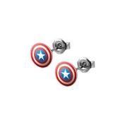 Pair of Captain America's Shield Stud Earrings