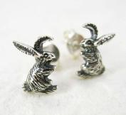 Sterling Silver Bunny Rabbit Post Earrings