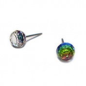 Vitrial Medium Facated Ball. Austrian Crystal Earrings, 6mm