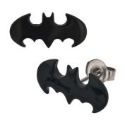 316L Surgical Steel Blacktone Batman Stud Earrings - Sold as a Pair