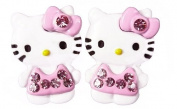 Adorable Kitty Stud Earrings with Pink Shirt and Bow!
