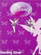 Sterling Silver Disney Tinkerbell Stud Earrings