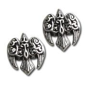 Sterling Silver Morrigan Raven Earring Studs by Dryad Design