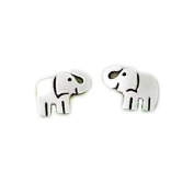 Far Fetched Sterling Silver Elephant Post Earrings