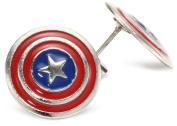 Marvel Comics Capt America Stud Earrings