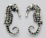 Stainless Steel Seahorse Stud Earrings
