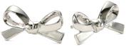 "Kate Spade New York ""Skinny Mini"" Silver-Tone Bow Stud Earrings"