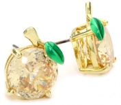 "Juicy Couture ""Shoreline Shades"" Peach Gold Studs Earrings"