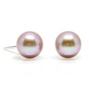 HinsonGayle AAA 7.5-8.0mm Naturally Pink Cultured Pearl Stud Earrings