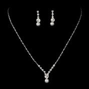 Bridal Wedding Jewellery Set Dainty Pearl Rhinestone