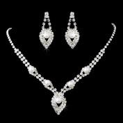 Bridal Wedding Jewellery Set Elegant Rhinestone Pearl