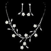 Bridal Wedding Jewellery Set Floral Vine Pearl Rhinestone