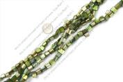 "8mm--9mm gemstone light-green shell beads strand 15"""