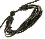 Neptune Giftware Black Leather Multi Strap Surf Wristband Bracelet - 40