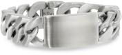 Men's Stainless Steel Extra Wide ID Bracelet, 23.5cm