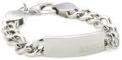 "Police ""Strip"" All Shiny Polish Stainless Steel Bracelet"