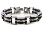 Mens Stainless Steel Bracelet Chain Link Wrist Band Wristband Fashion Jewellery